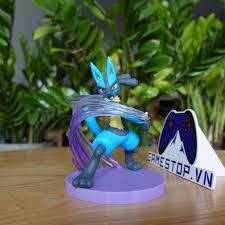 Mô hình Pokemon Lucario/Rukario 12cm Metal Claw Gallery DX Nhựa PCV, ABS  CHÍNH HÃNG MỸ Pokemoncenter USA GALDX04 - Mô hình nhân vật