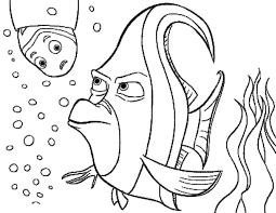 Finding Nemo Gill Angry Coloring Pages For Kids #dew : Printable ...