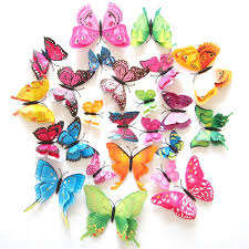 Butterfly Home Decor Accessories 100D PVC Wall Stickers Magnet Butterflies Home Decor Accessories 40