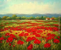 poppy field painting unknown artist poppy field art painting