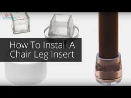 install chair leg protectors