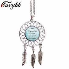 What Were Dream Catchers Used For Mesmerizing Caxybb Christian Inspiration Jewelry Jesus Bible Pendant Necklace 32