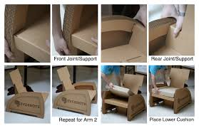 Corrugated Cardboard Furniture Thinking Chair By Kyle A Koch At Coroflotcom