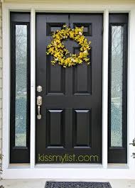painting the front door another diy fail kiss my list new black
