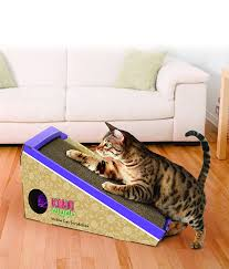 now here s a cool toy with a very practical purpose if your cat has been scratching up the furniture this toy could help decrease that behavior