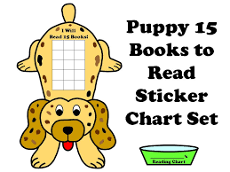 Reading Sticker Chart Puppy 15 Books To Read Sticker Chart Set