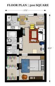 Small Picture floor plans 500 sq ft 3523 Pinterest Apartment floor plans