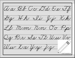 Handwriting Cursive Chart Zb Style Practice Guide Abcteach