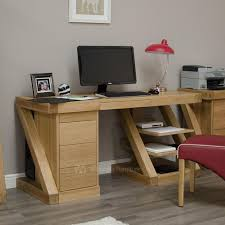 london oak large pedestal home. zebra oak large computer desk london pedestal home