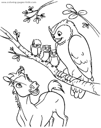 Small Picture Horses Free Coloring Sheet Pony with owls