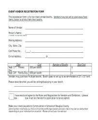 Free Vendor Application Form Template 9 Registration Templates In