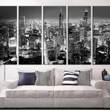 extra large art chicago city night canvas art print large wall art black white on canvas black and white wall art with shop large black and white canvas prints on wanelo