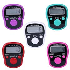 Unisex <b>Digital Finger</b> Ring Plastic Counter Hand Held Knitting Row ...