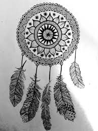 Black And White Dream Catcher Tumblr Fascinating Black And White Dream Catcher Tumblr Dream Catcher Draw Buscar Con