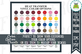 Siser Easyweed Htv Color Chart Siser Easyweed Heat Transfer Vinyl Color Options Chart Jpg
