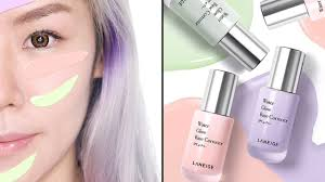 new laneige water glow base correctors review swatch try on