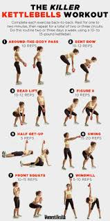 Kettlebell Exercise Chart Pin On Health And Fitness