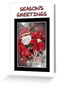 Seasons Greetings Frosty Greeting Card By Roanemermaid Gift