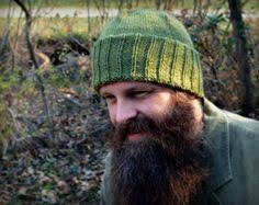 "World War II inspired ""<b>Watchman's</b> cap"" / men's hand knitted <b>hat</b> ..."