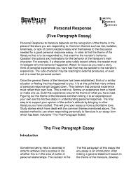Response To Literature Essay Example Beyond The Essay Iii Center For