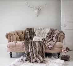 ice queen grey white faux fur throw image 2
