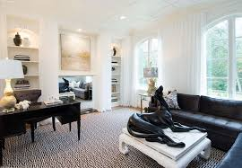 home office sofa. Inspired Recliner Sectional In Home Office Shabby Chic With Stark Carpet Next To Black Sofa Alongside Living Room Recliners And Area Rug On Carpeting O