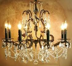 vintage french italian design bronze and crystal chandelier double pineapple 429466180