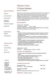 it project manager cv template scrum master resume