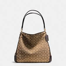 ... COACH f36424 PHOEBE SHOULDER BAG IN OUTLINE SIGNATURE IMITATION GOLD  KHAKIBROWN ...