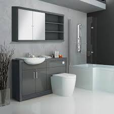 Hacienda Fitted Bathroom Furniture Pack Grey Contemporary ...