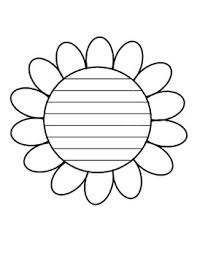Spring Flower Template Spring Flower Writing Paper Flower Template With Lines Writing Paper