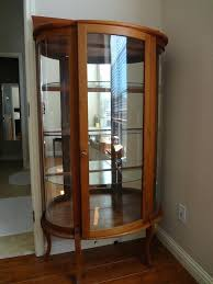 curved glass curio cabinet value my antique furniture collection inside designs 13