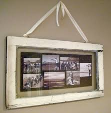 single pane window picture frame