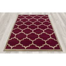 square red maroon modern polypropylene trellis area rug living room light grey moroccan print rugs paisley
