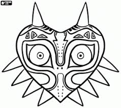 The Legend Of Zelda Majoras Mask Coloring Page Adrians Party