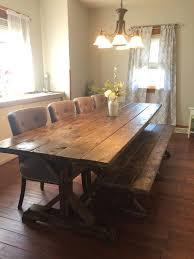 real rustic kitchen table long: farmhouse table with matching bench long farmhouse table rustic table rustic wedding picnic table barn table long farmhouse table more