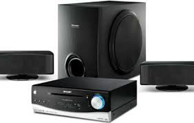 sharp home theater. sharp htdv40h 2.1ch home theatre system with audistry sound technology theater v