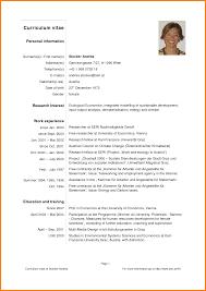 Example Curriculum Vitae Curriculum Vitae Pdf 7