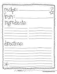 Recipe Blank Template Class Recipe Book Template Google Search Auction Ideas Recipe