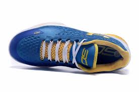 under armour shoes blue and yellow. men\u0027s under armour ua stephen curry one low basketball shoes royal blue yellow and
