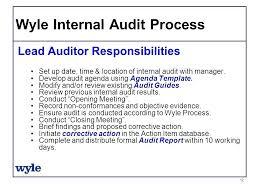 Internal Audit Opening Meeting Template Opusv Co