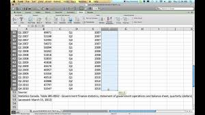 Quarterly Charts In Excel How To Convert Quarterly Data To Annual Data Using Excel