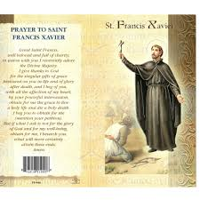st francis xavier mini lives of the saints folded prayer card the catholic company