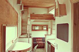 tiny house interior. This One Almost Has A Stark, Nautical Feel, But Still Finds Way To Come Off As Looking Comfortable. (The Leaf House). Tiny House Interior