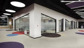 modern office ceiling. Beneath Chaotic Colorful Designed Ceiling Circle Carpet Modern Office O