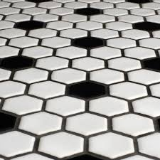 Concept Black And White Hexagon Tile Floor Somertile Victorian Hex Whiteblack Dot Porcelain Mosaic For Perfect Design