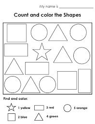 Free Printable Color the Shapes Worksheet | Loving Printable