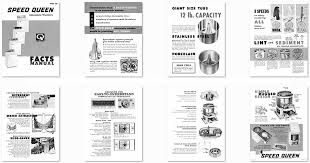 washer dryer library 1965 automatic washer facts manual published by speed queen in 1965 speed queen produced their facts manuals to give to dealers and customers information regarding their products throughout
