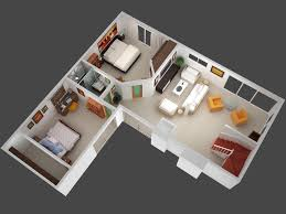 Small One Bedroom Homes Mockup With Furniture Garage Apartments Pinterest Furniture