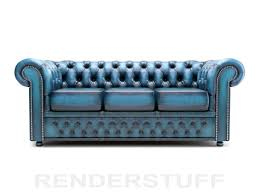 chesterfield sofa 3d model low poly 3 seater rendering image chesterfield sofa leather 3